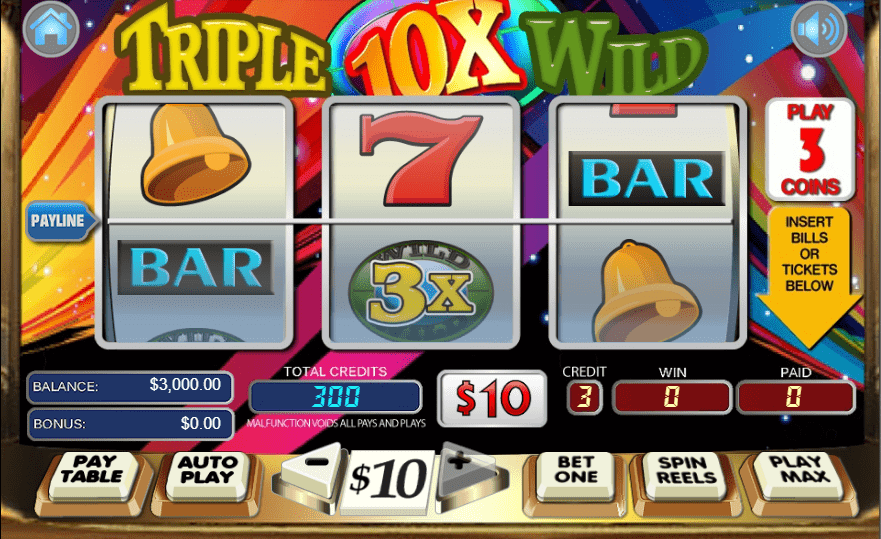 Lincoln Casino WGS Triple 10x Wild 50 FREE Spins