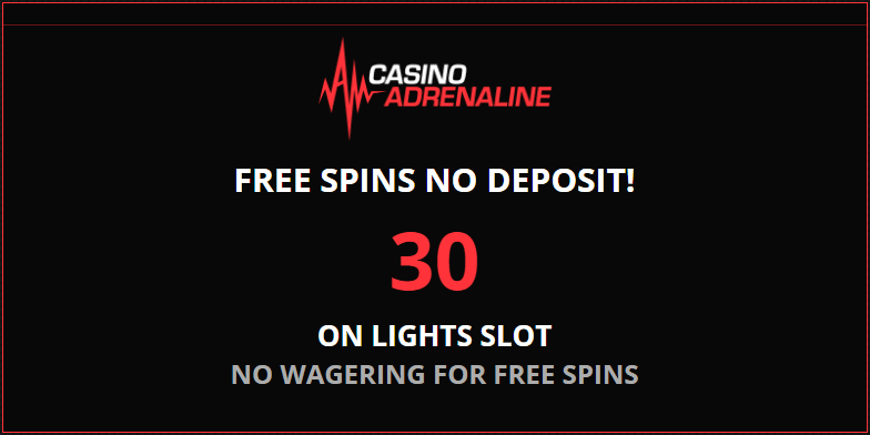 adrenaline casino 30 free spins