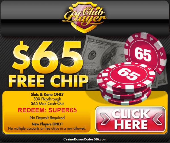 Club player casino free chip arizona casino free free in money