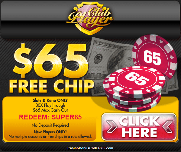 Club Player Casino $65 FREE Chips No Deposit Bonus