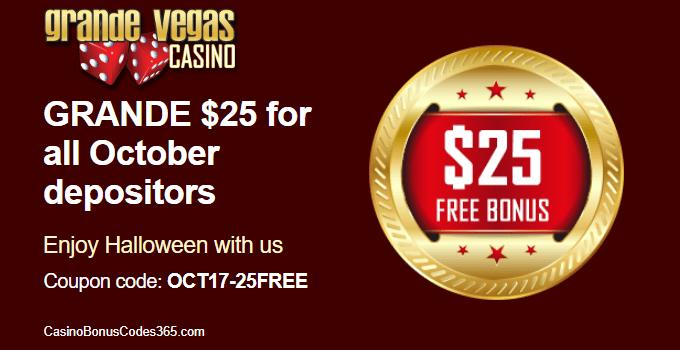 Grande Vegas Casino Spooky $25 FREE Chips