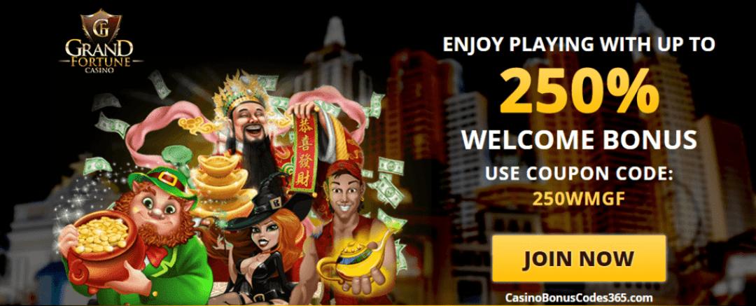 Grand Fortune Casino 250% Welcome Bonus