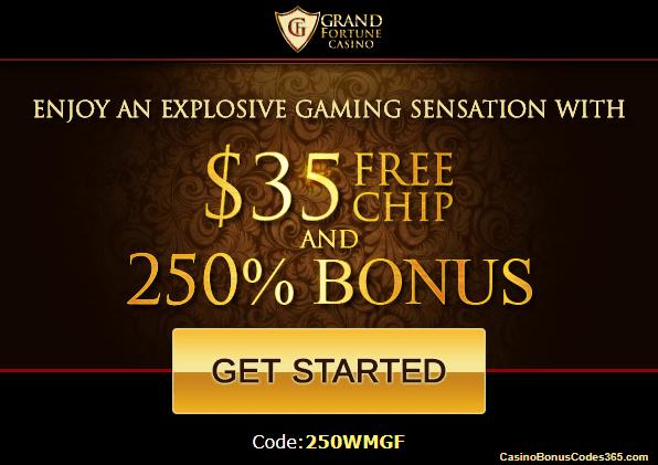 No Deposit Code Grand Fortune Casino
