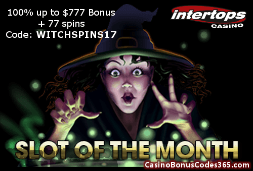 Intertops Casino red Slot of the Month RTG Witchs Brew