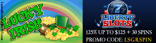 Livrty Slots WGS Lucky Irish 125% up to $125 plus 30 Spins