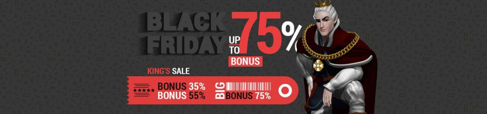 King Billy Casino 75% Black Friday Week 1