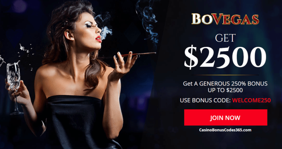 BoVegas Casino $2500 Welcome Bonus
