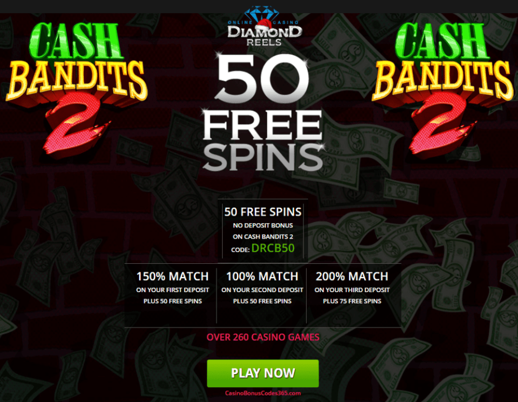 Diamond Reels Casino Exclusive 50 No Deposit FREE Spins