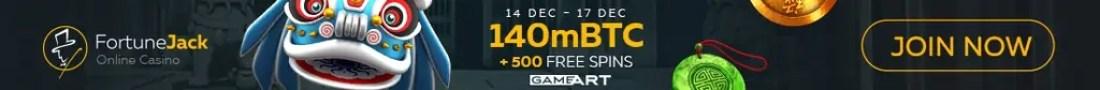 FortuneJack Casino GameArt 140mBTC