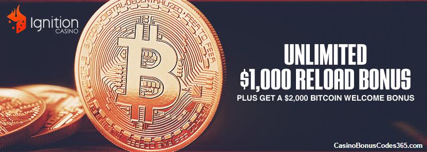 Ignition Casino $1000 Bitcoin Reload Bonus