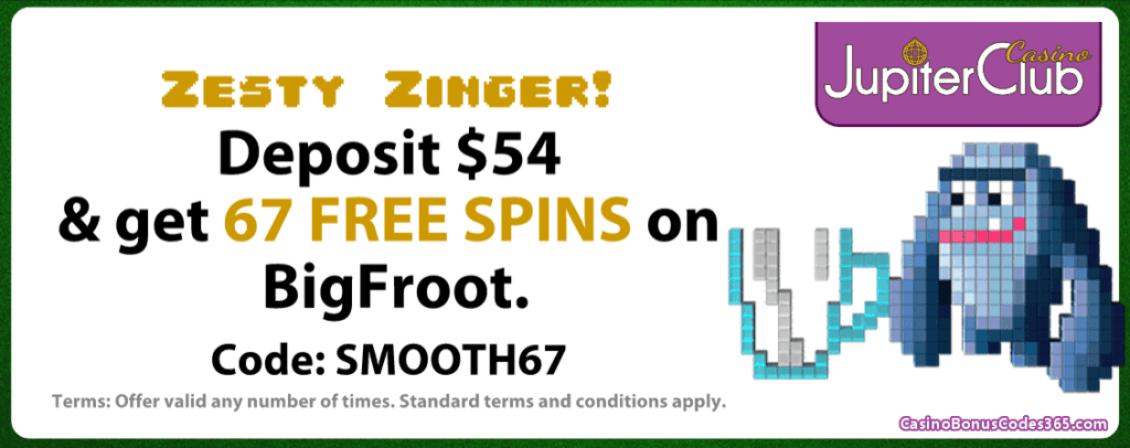 Jupiter Club Casino Saucify BigFroot 67 FREE Spins
