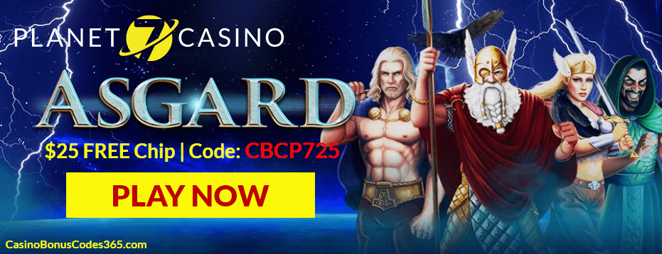 Planet 7 Casino New Game RTG Asgard $25 No Deposit FREE Chip
