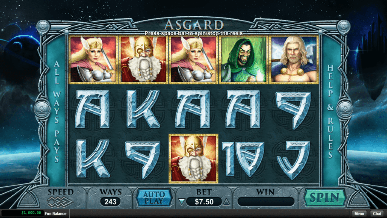 Intertops Casino Red RTG New Game Asgard
