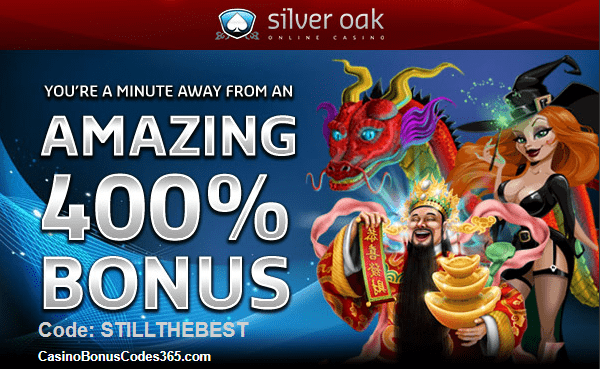 Silver Oak Casino 400% No Rules Bonus Welcome Offer