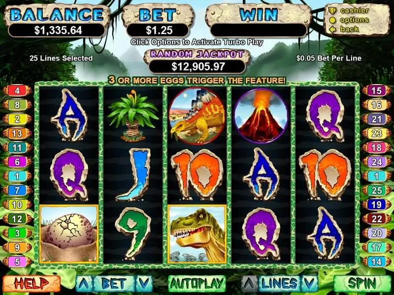 Silvel Oak Casino RTG T-Rex 20 FREE Spins