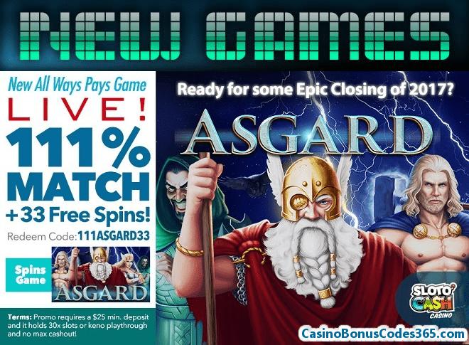 SlotoCash Casino RTG New Game Asgard