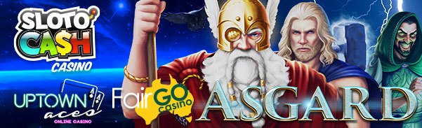 SlotoCash Casino Uptown Aces Fair Go Casino RTG New Game Asgard