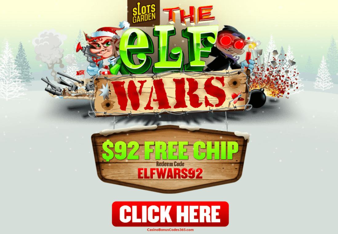 slots garden rtg the elf wars holidays 92 free chip no deposit bonus - Slots Garden Casino