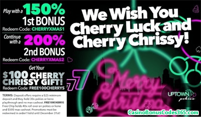 Uptown Pokies Dinky-di Aussie Holidays Cherry Chrissy
