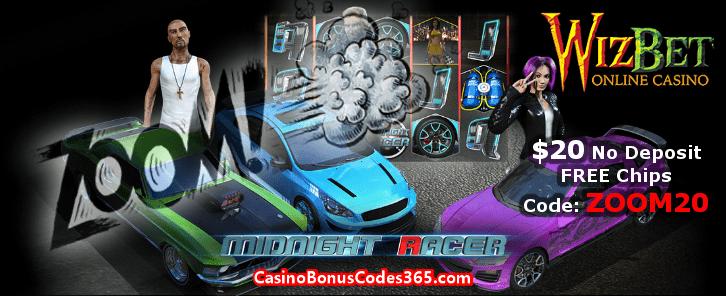WizBet Online Casino $20 No Deposit FREE Chips