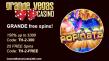 Grande Vegas Casino 150% and 25 free spins RTG Popinata