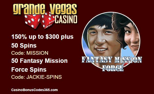 Grande Vegas Casino $200 No Deposit Bonus Codes 2021