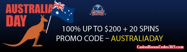 Liberty Slots 100% up to $200 plus 20 Spins WGS Triple 10x Wild Australia Day