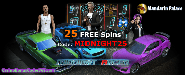 Mandarin Palace Online Casino Saucify Midnight Racer 25 FREE Spins