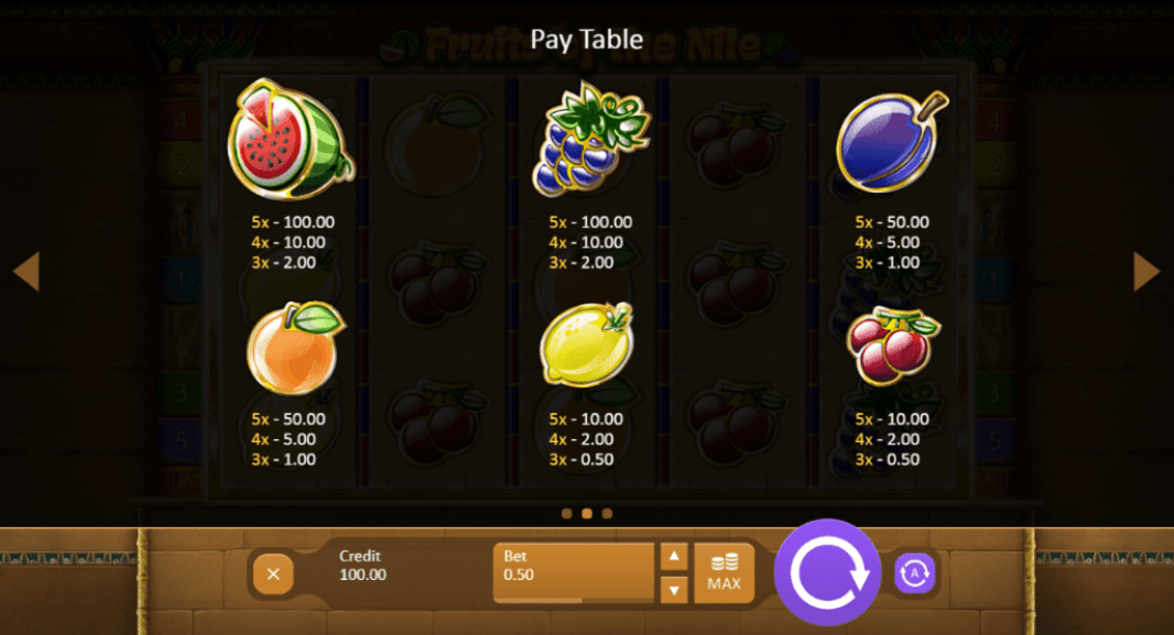 Bet N Spin Playson Fruits of Ra