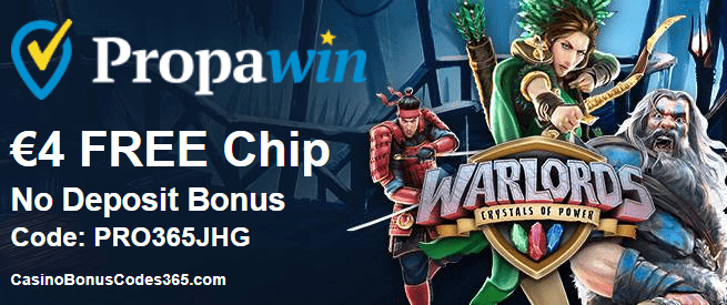 PropaWin Casino Exclusive €4 FREE Chips