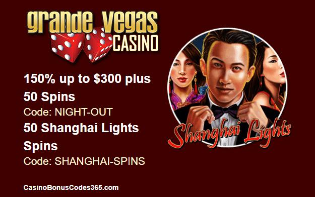 Grande Vegas Casino New RTG Game Shanghai Lights