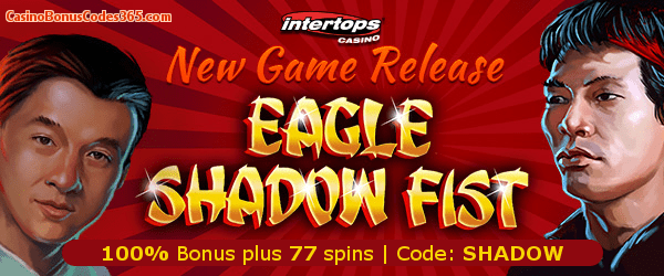 Intertops Casino Red New RTG Game Eagle Shadow Fist