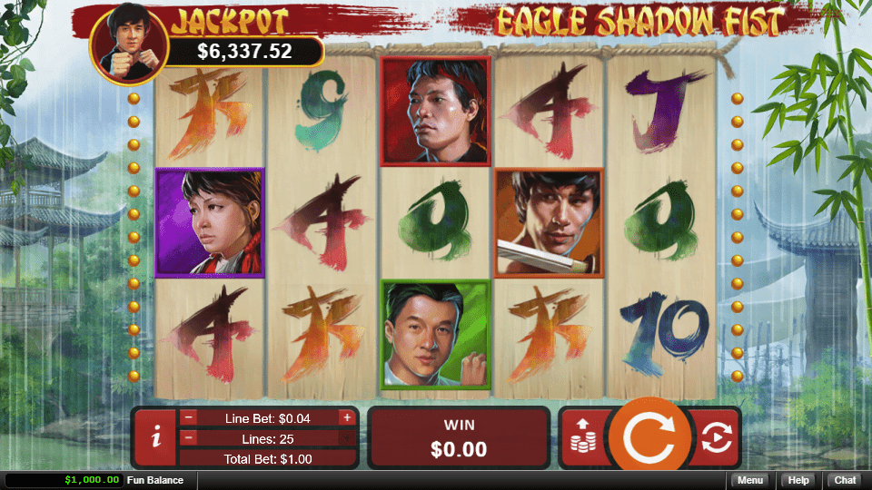 Grand Fortune Casino RTG Eagle Shadow Fist