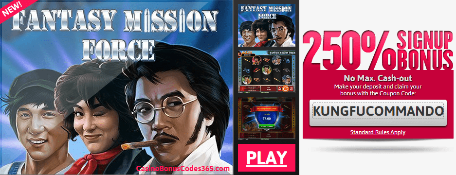 Slots of Vegas New RTG Game Fantasy Mission Force 250% Bonus