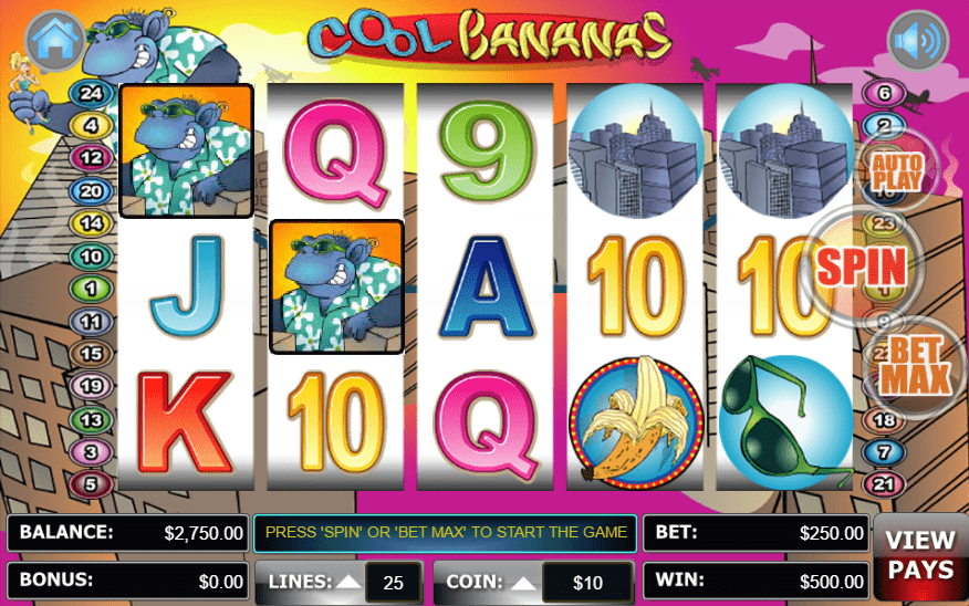 Cool Bananas Libert Slots Lincoln Casino SANTASPINS WGS Technology FREE Spins