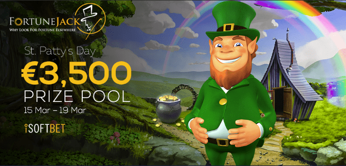 FortuneJack Casino €3,500 Prize Pool St. Patrick's Day Promo