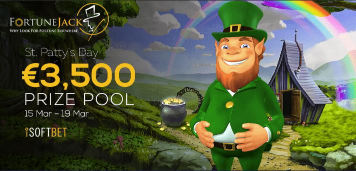 FortuneJack Casino €3,500 Prize Pool St. Patrick's Day Promo