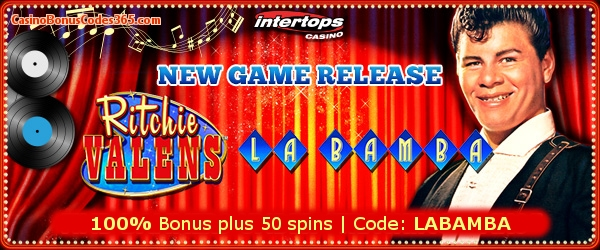 Intertops Casino Red RTG Ritchie Valens La Bamba 100% Bonus plus 50 FREE spins
