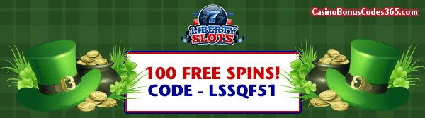 Liberty Slots 100 Lucky Irish FREE Spins