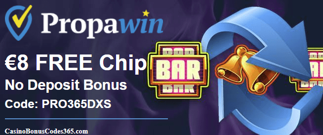 PropaWin Casino Exclusive €8 FREE Chip Promo