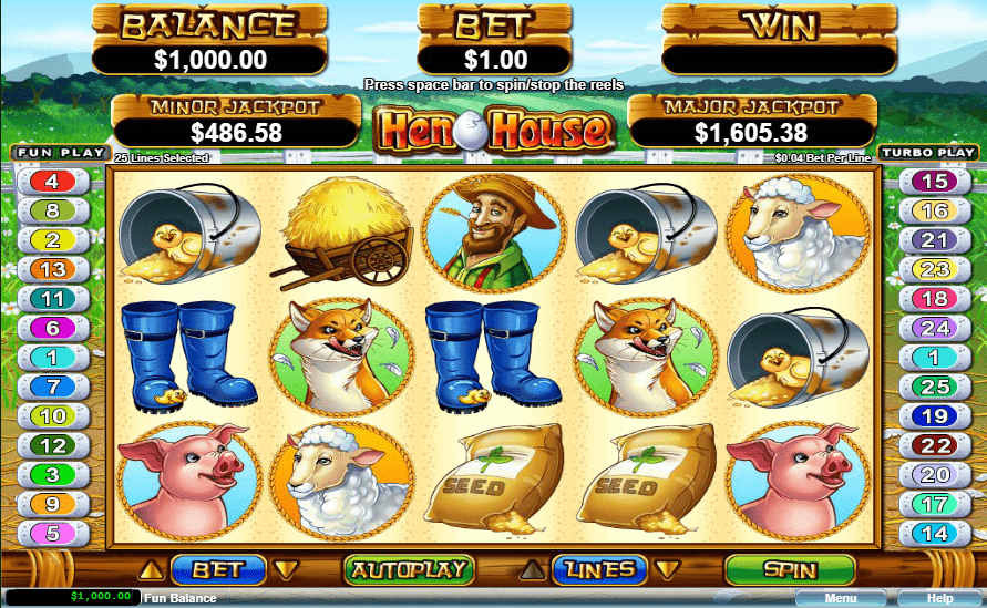 Fair Go Casino Game of The Month GOTM March RTG Hen House