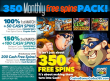 SlotoCash Casino Mid-March 350 Cash Free Spins Pack!