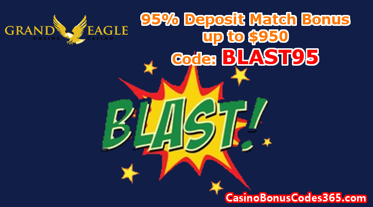 Frand Eagle Casino 95% Deposit Match Bonus up to $950 BLAST95