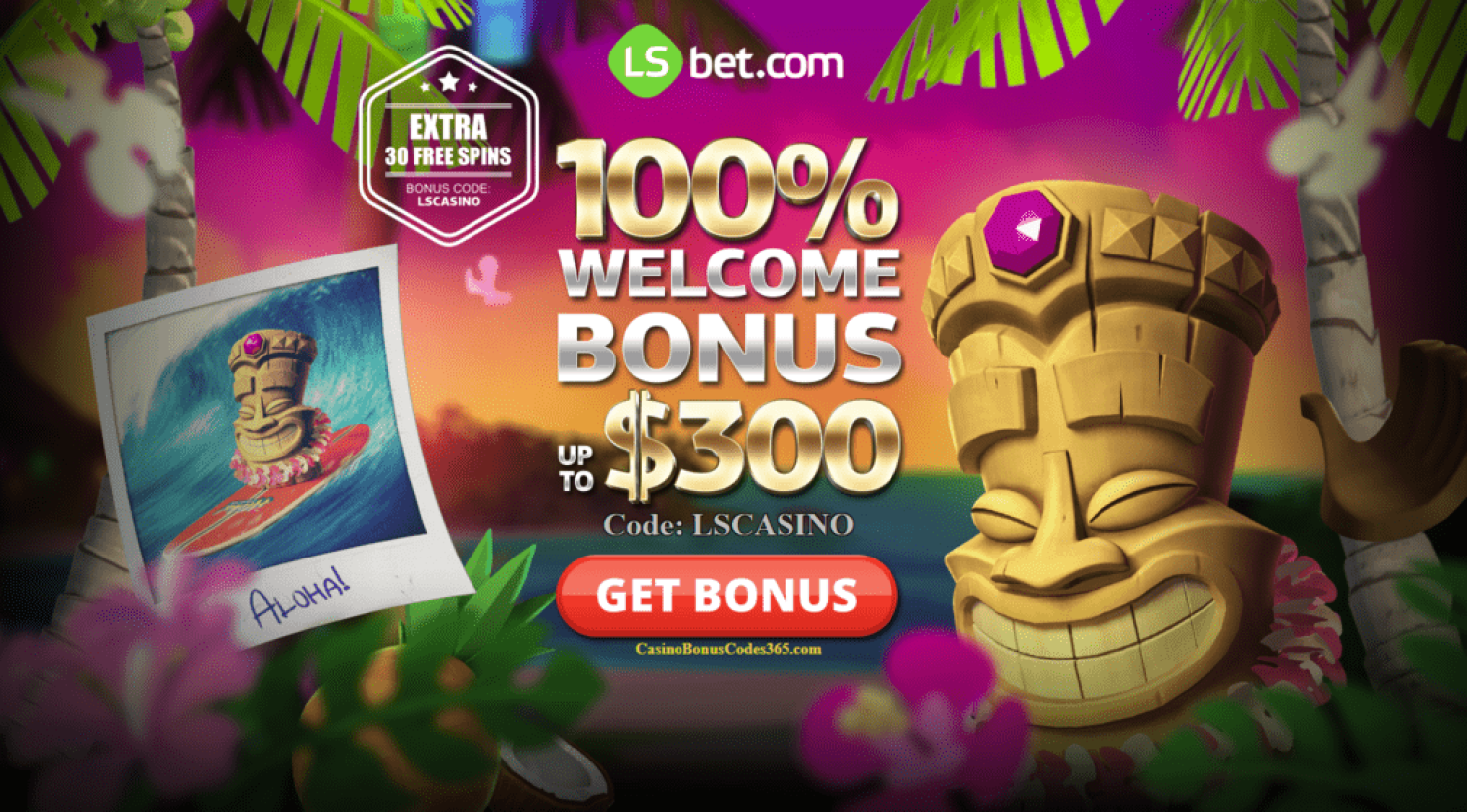 LSBet Casino 100% up to $300 welcome bonus plus 30 FREE Spins
