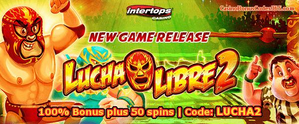 Intertops Casino Red New Game RTG Lucha Libre 100% Bonus plus 50 spins