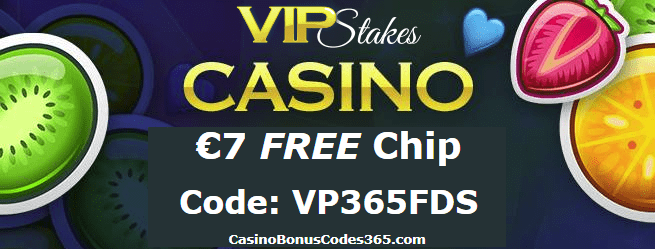 VIP Stakes Exclusive €7 FREE Chip April Offer