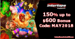 Intertops Casino Red May Promo 150% up to $600