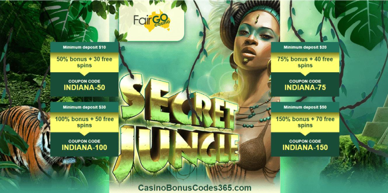 Fair Go Casino New Game Secret Jungle Bonuses And Free Spins Casino Bonus Codes 365