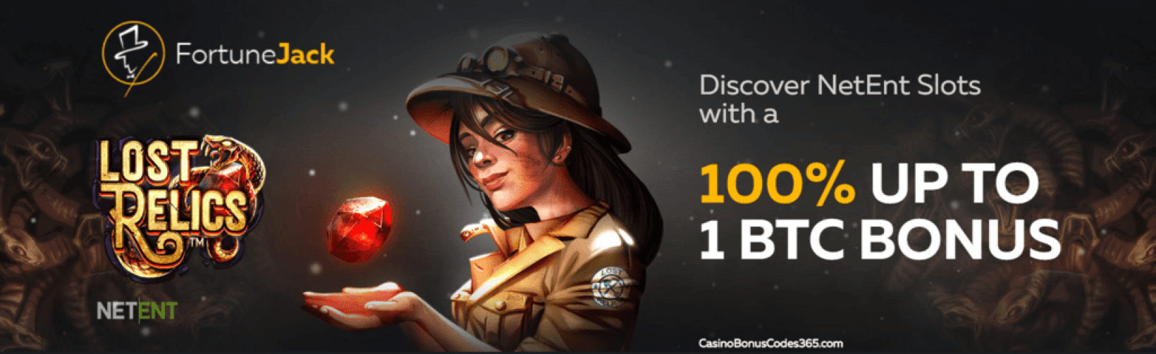 FortuneJack Casino NetEnt Games 100% Match Bonus up to 1BTC