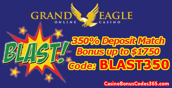 Grand Eagle Casino 350% Up to $1750 Deposit Match Bonus